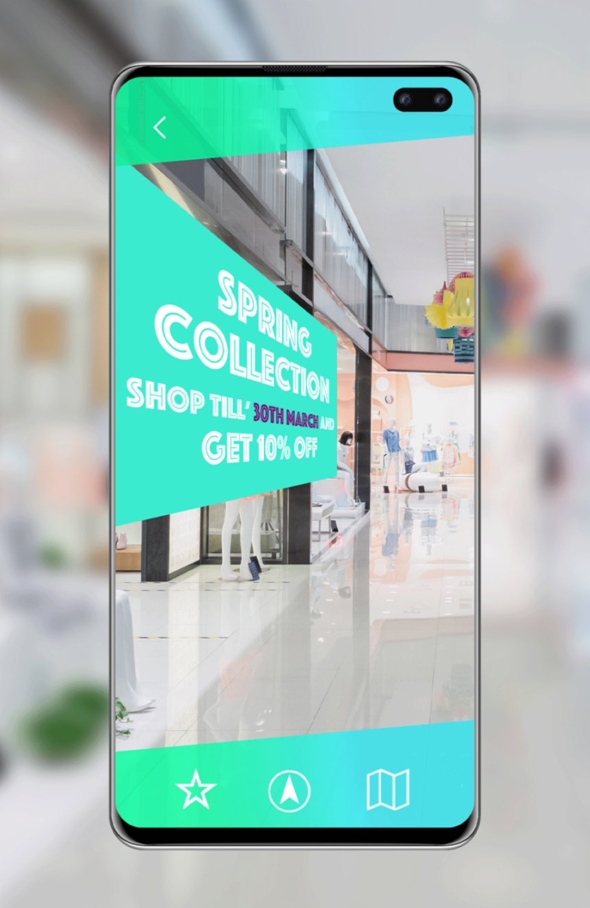 Augmented Reality used in a Shopping Mall